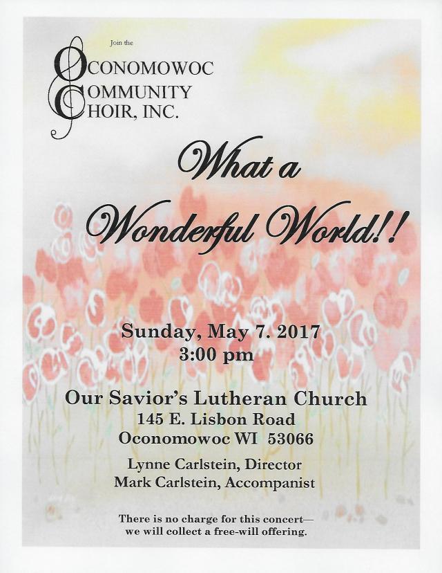 2017 Spring Concert Flyer